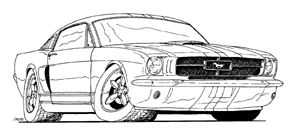 Kleurplaten Auto Ford Mustang.Ford Mustang Kleurplaat