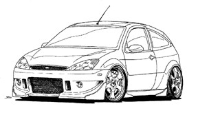 Customs on ferrari f40 coloring pages