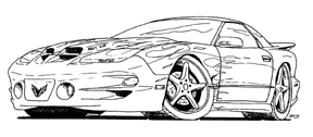 Cool Trans Am Drawing Sketch Templates